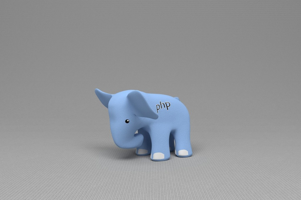 image of elephant with php logo